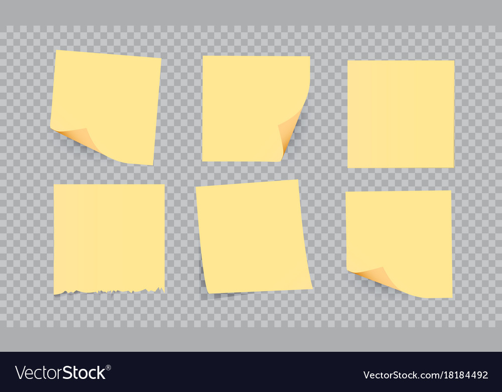 Yellow stick note isolated