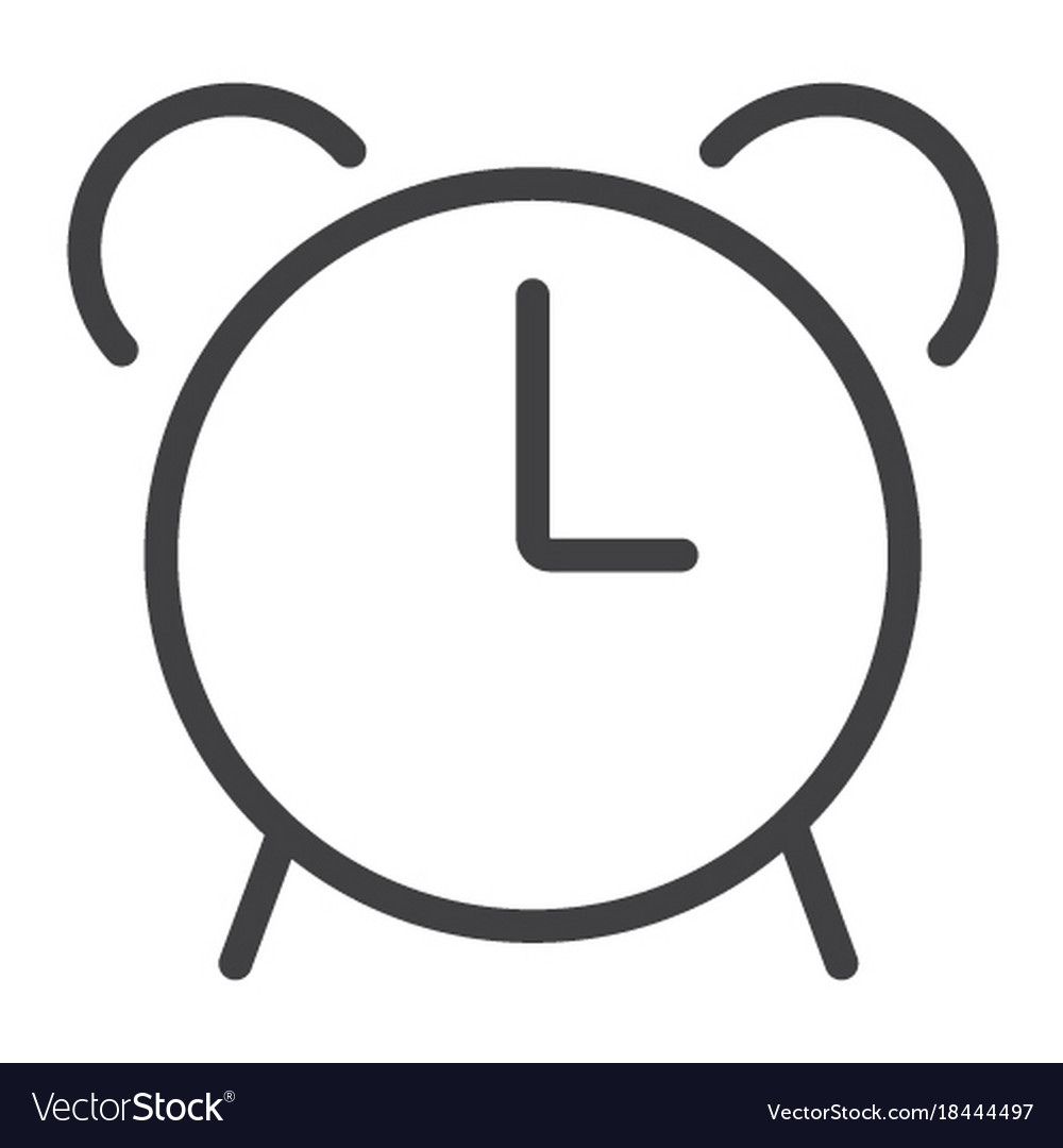 Alarm line icon web and mobile clock sign