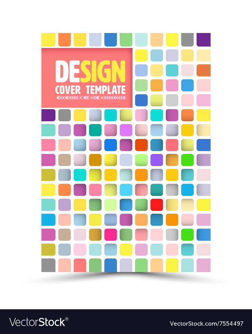 Book cover design template flyer layout