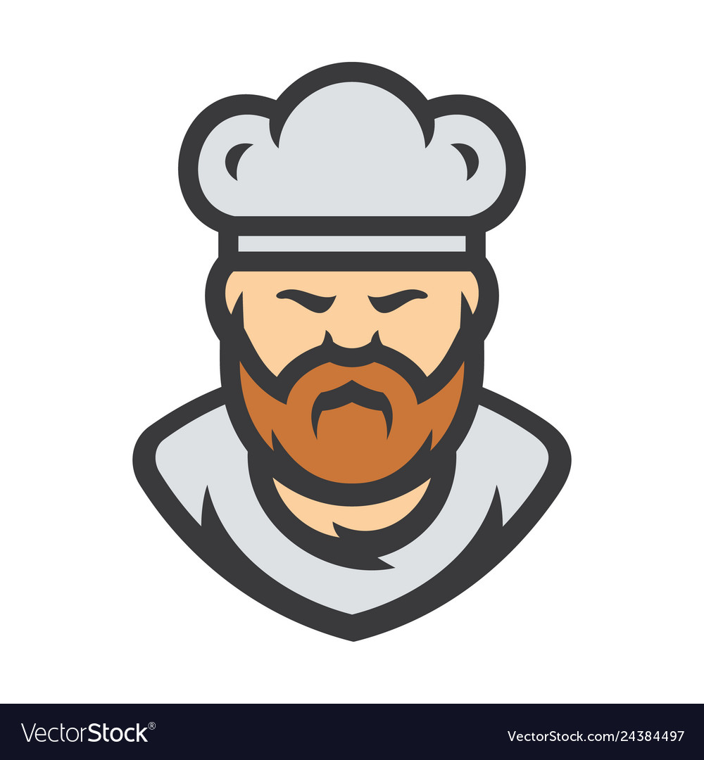 Chef in a cook hat sign