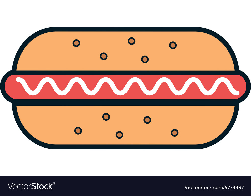 Delicious food hotdog and gastronomy theme design