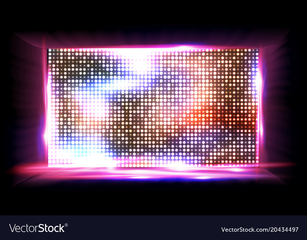 screen led light board cinema panel royalty free vector