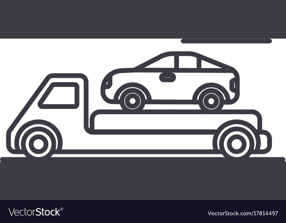 Trailertransportationcar servicedelivery vector image