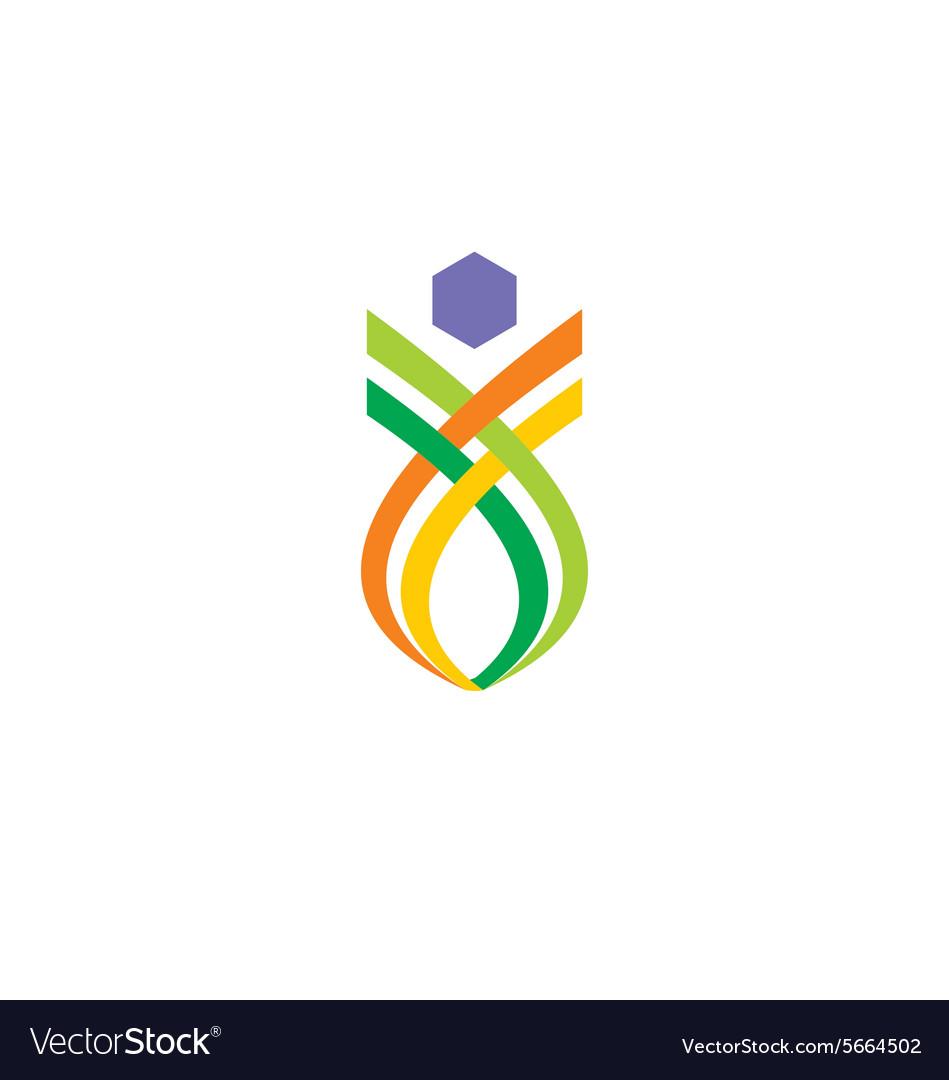 Abstract shape unusual logo