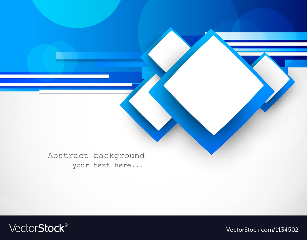 Blue background with squares vector image