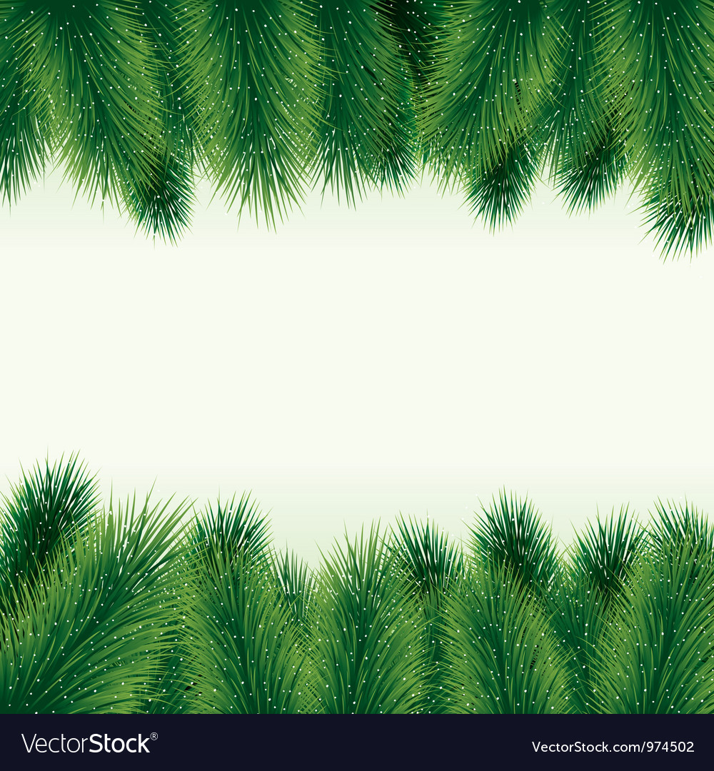 Decorative christmas tree background vector image