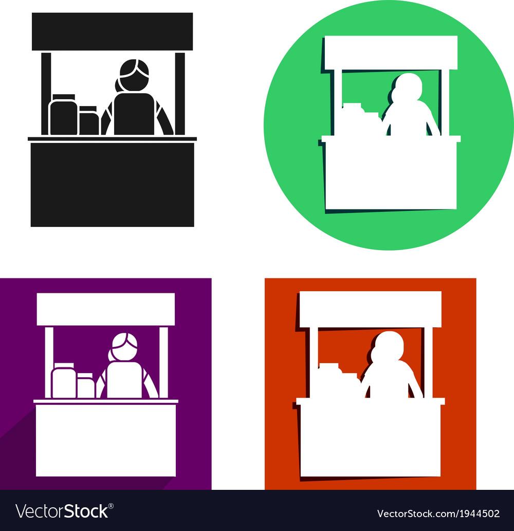 Food kiosk icon