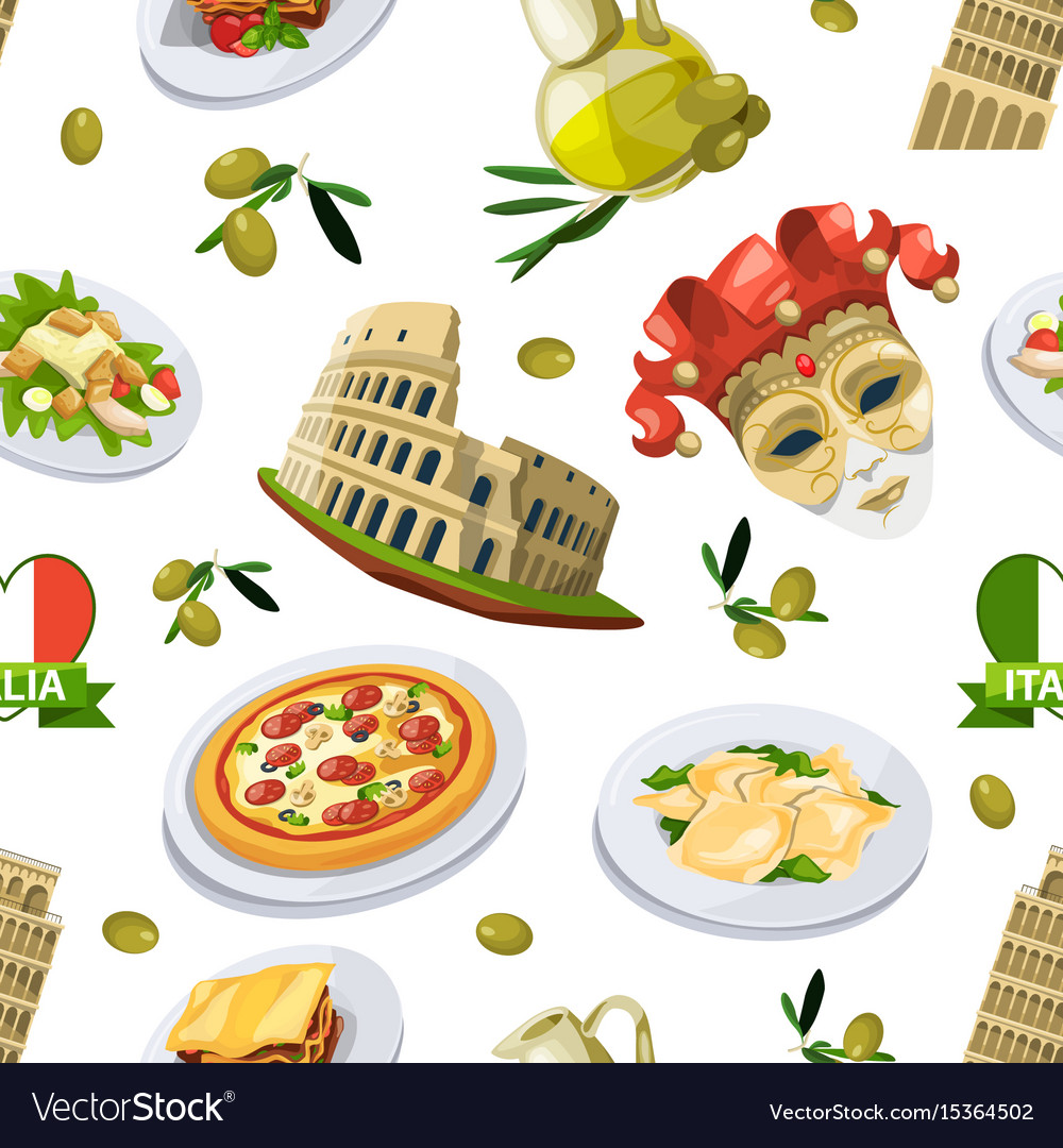 Food of italy cuisine of different