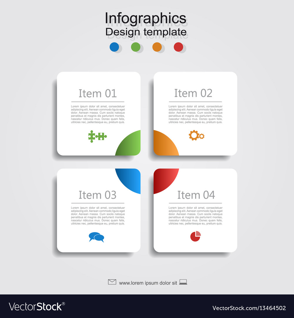 Infographic report template with place for data