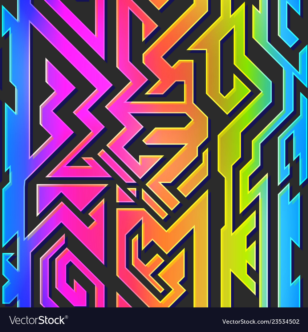Rainbow color geometric pattern