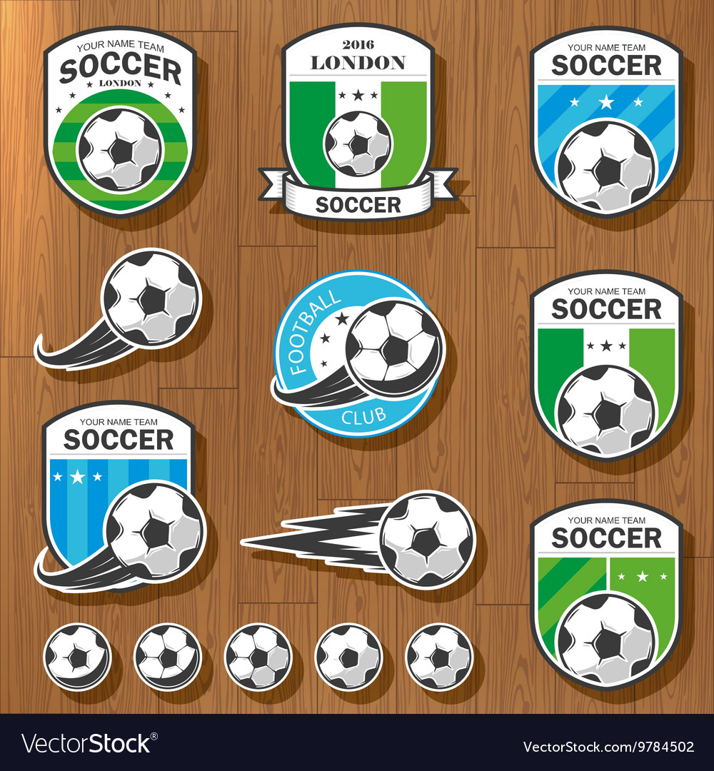 Set football logos