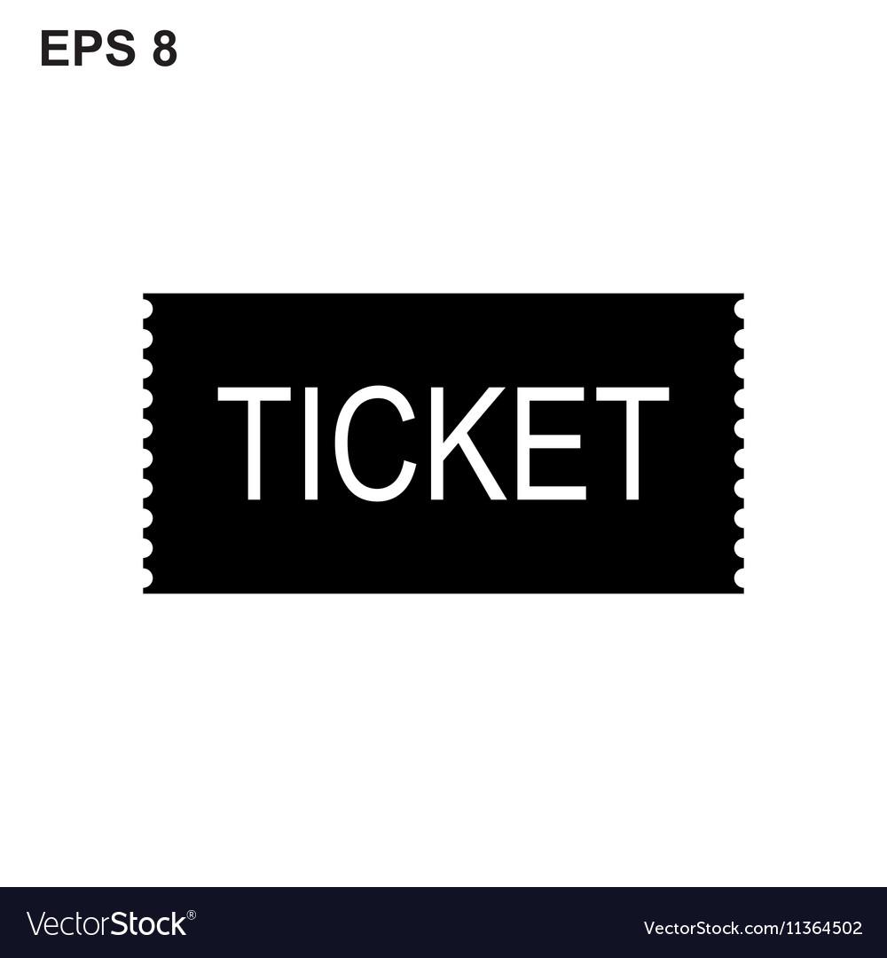 Ticket icon on white background