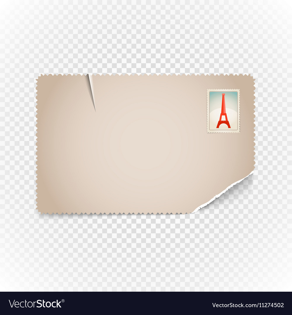 Vintage postcard Template for a content vector image