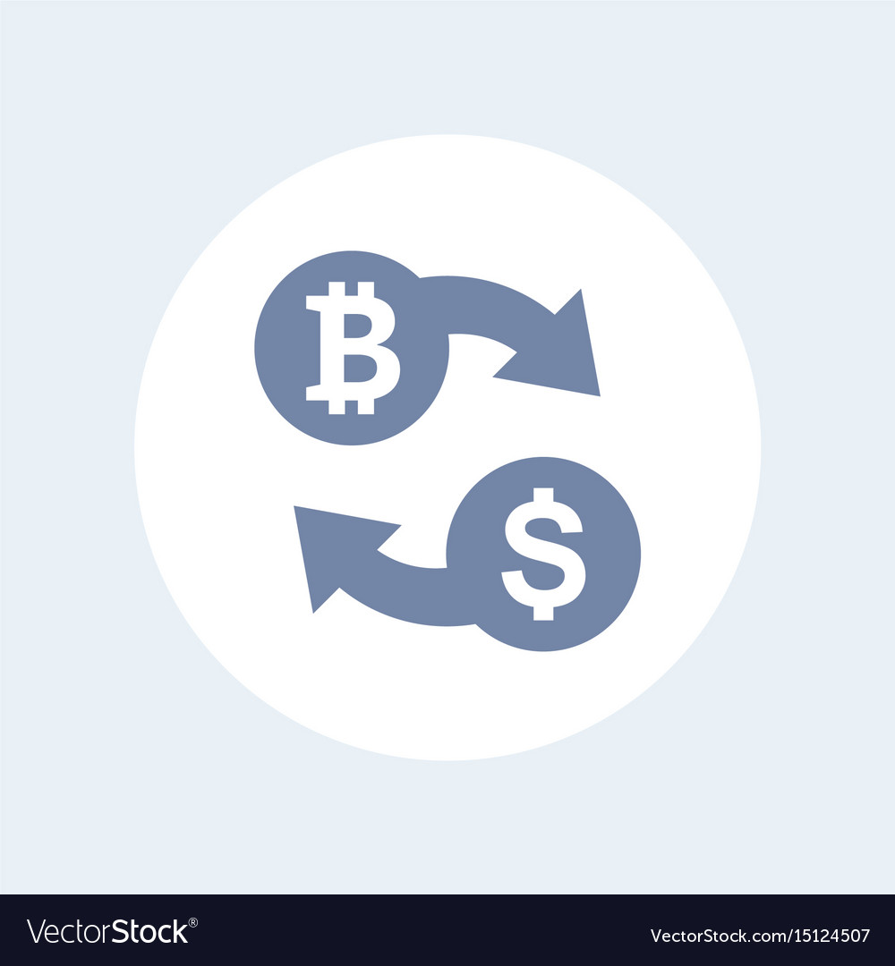 Bitcoin To Usd Exchange Icon Isolated On White