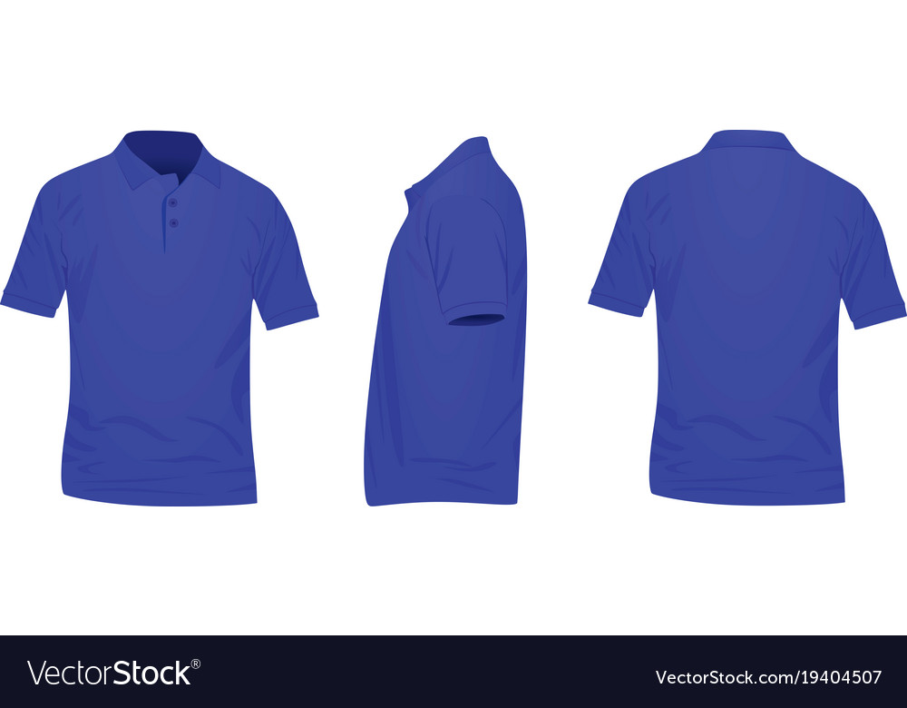Womens Light Blue Polo Shirt