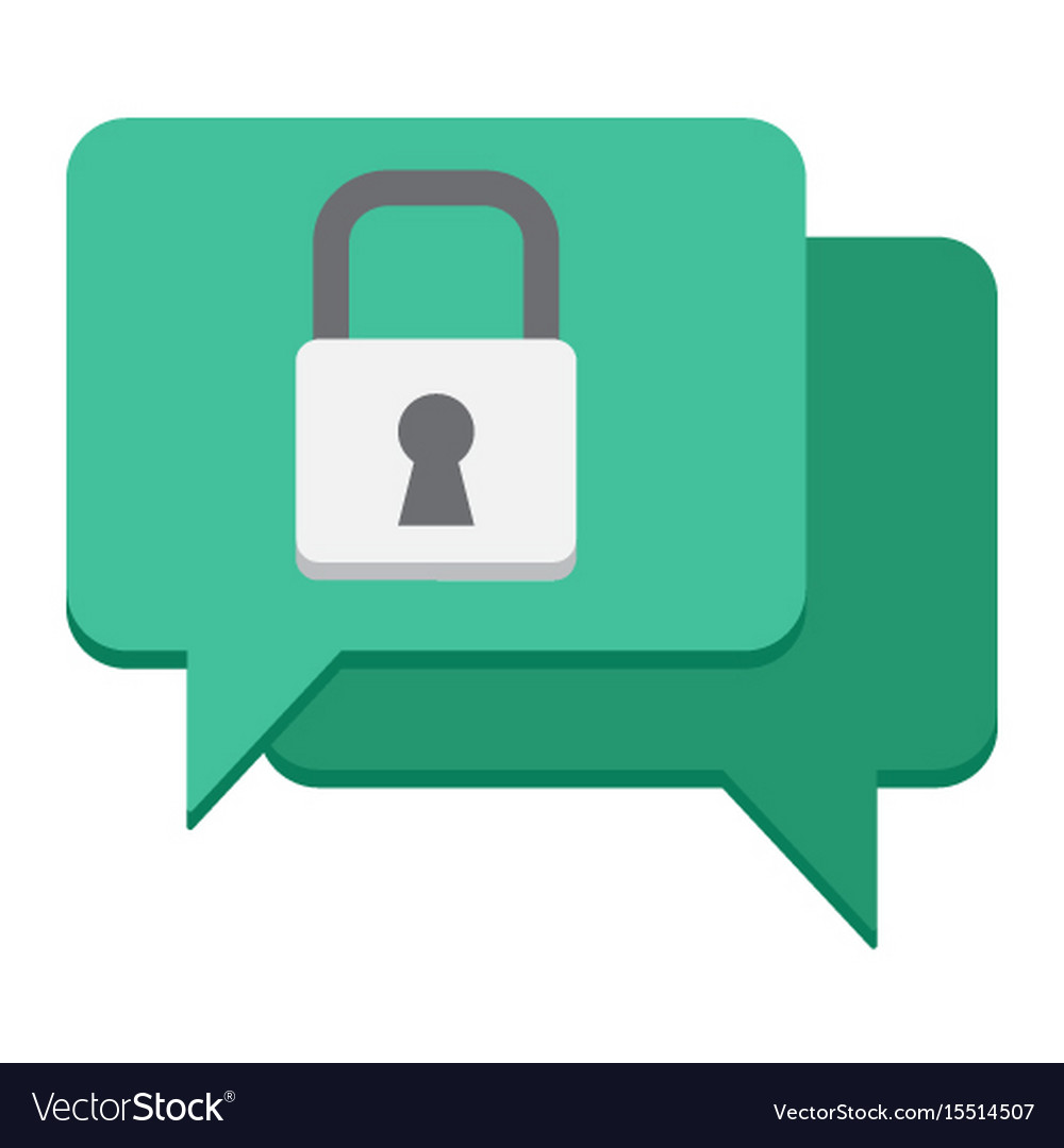 Encrypted messaging flat icon security vector image