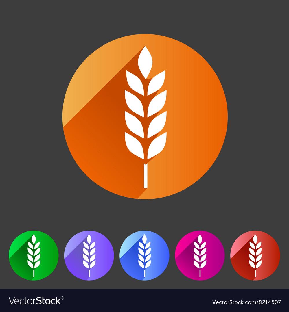 Gluten free icon flat web sign symbol logo