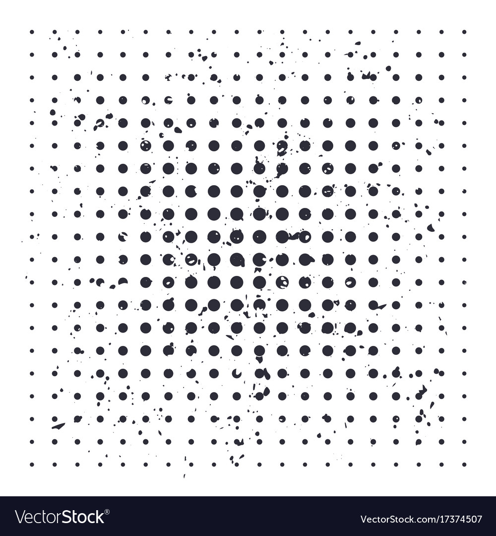 Halftone background with black dots