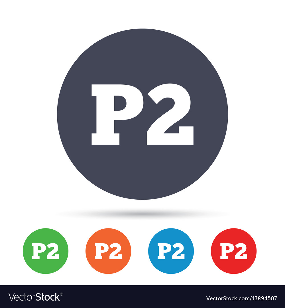 Parking second floor icon car parking p2 symbol