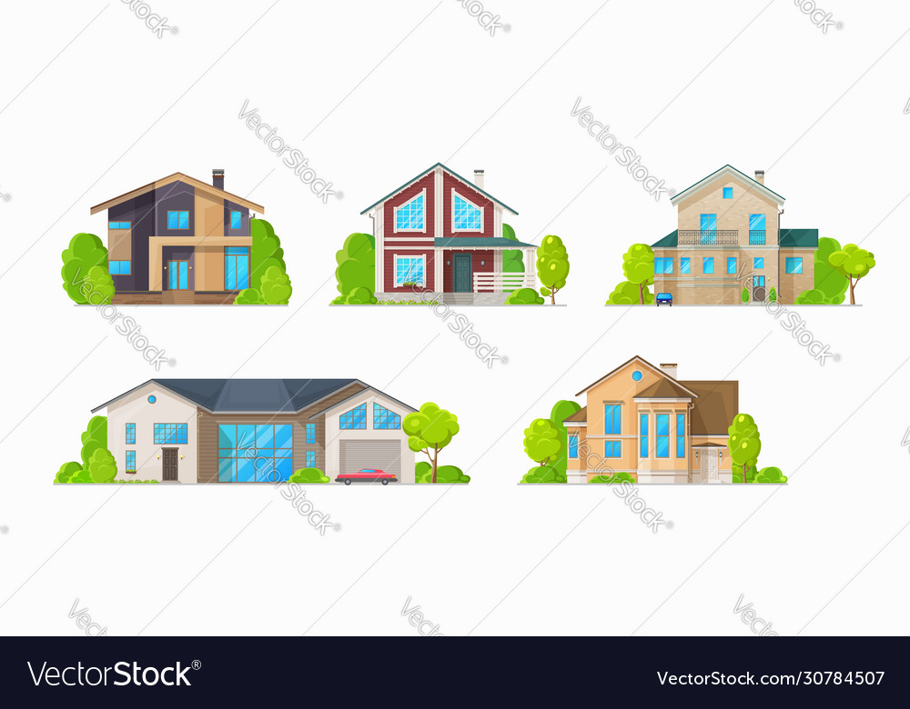 Residential houses family home cottages buildings