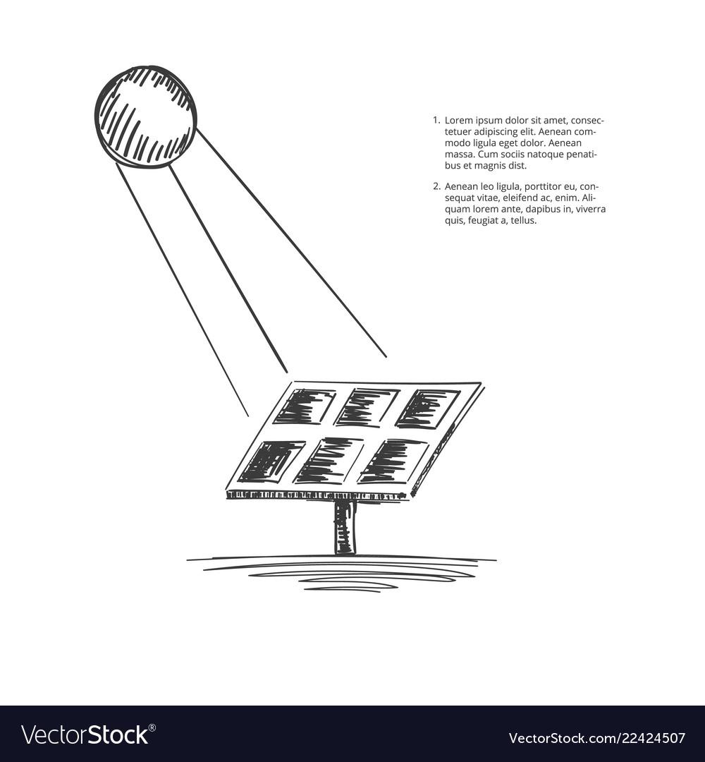 Solar-energy-sketch