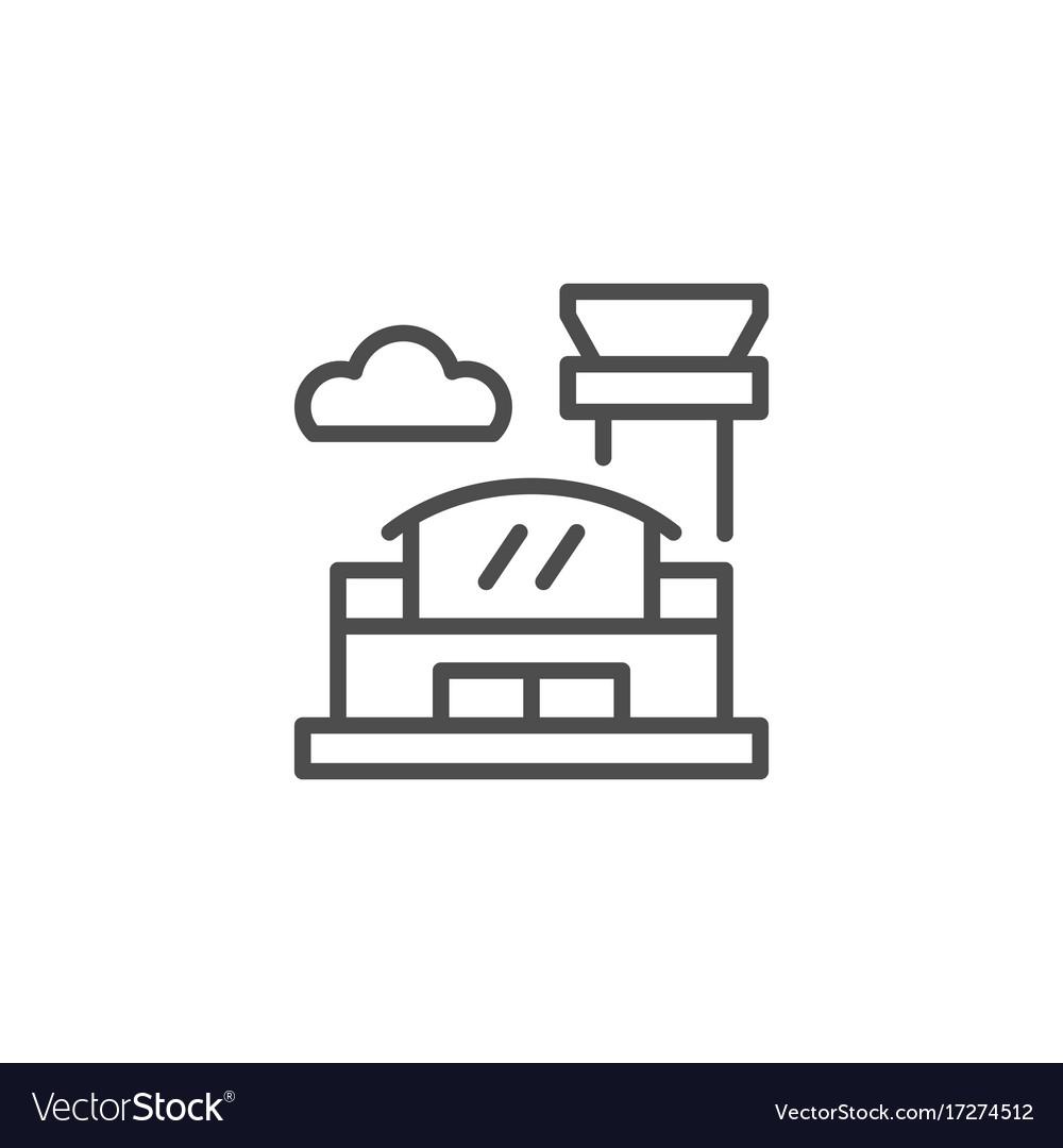 Airport line icon
