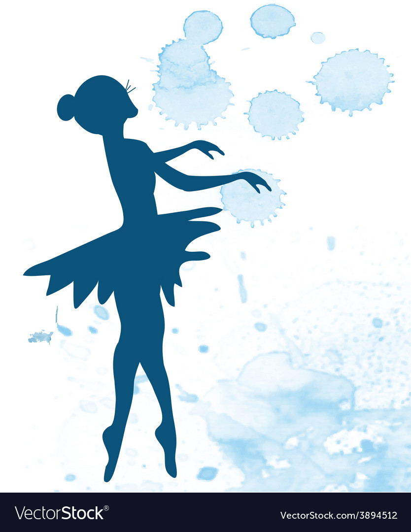 Ballerina and artistic background