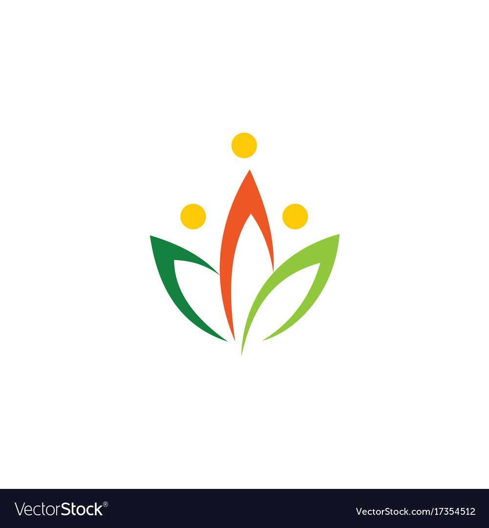 Colored lotus flower logo royalty free vector image colored lotus flower logo vector image mightylinksfo