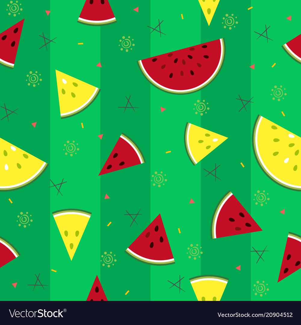 Colorful fresh watermelon fruits seamless summer