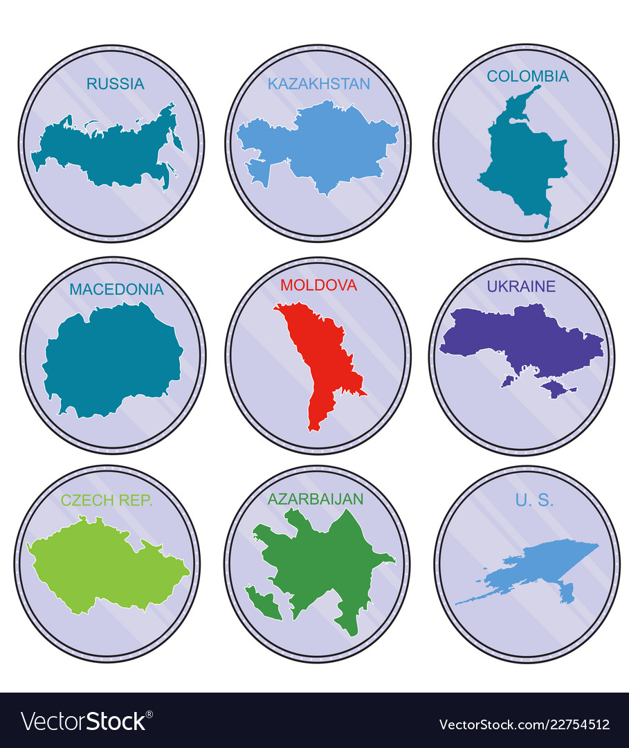 Countries of the world on the coins set