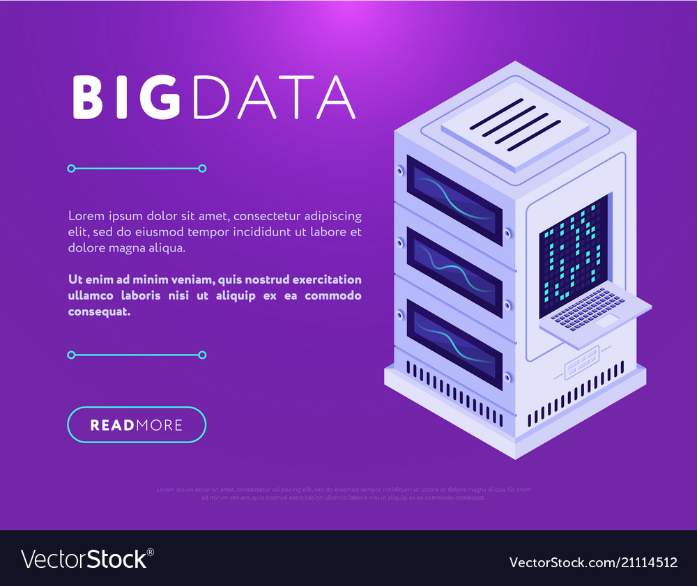 Database center tower in web design