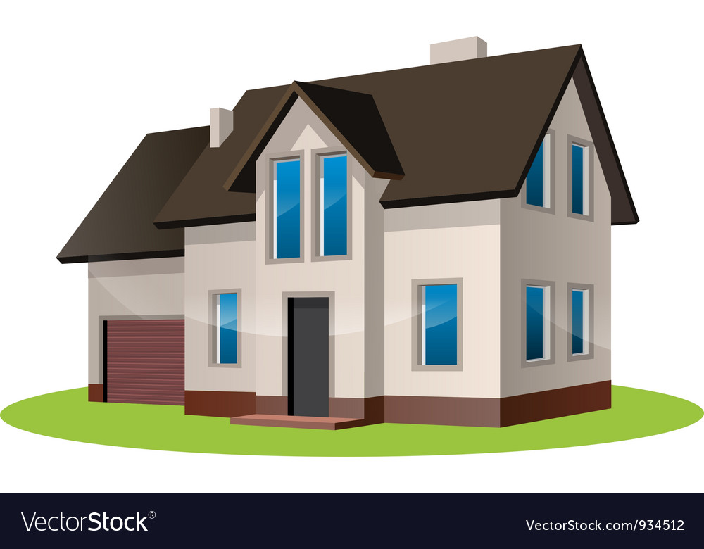 Home freehand drawing icon vector image