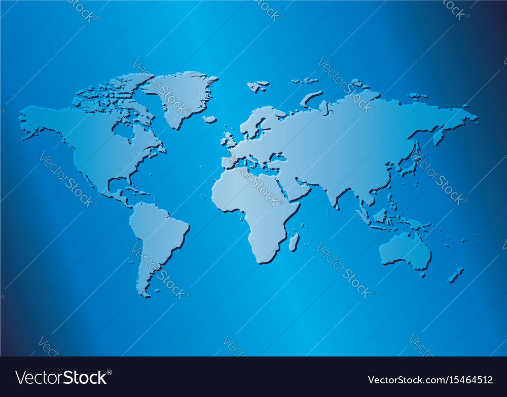 Light blue background with map of the world vector image gumiabroncs Image collections