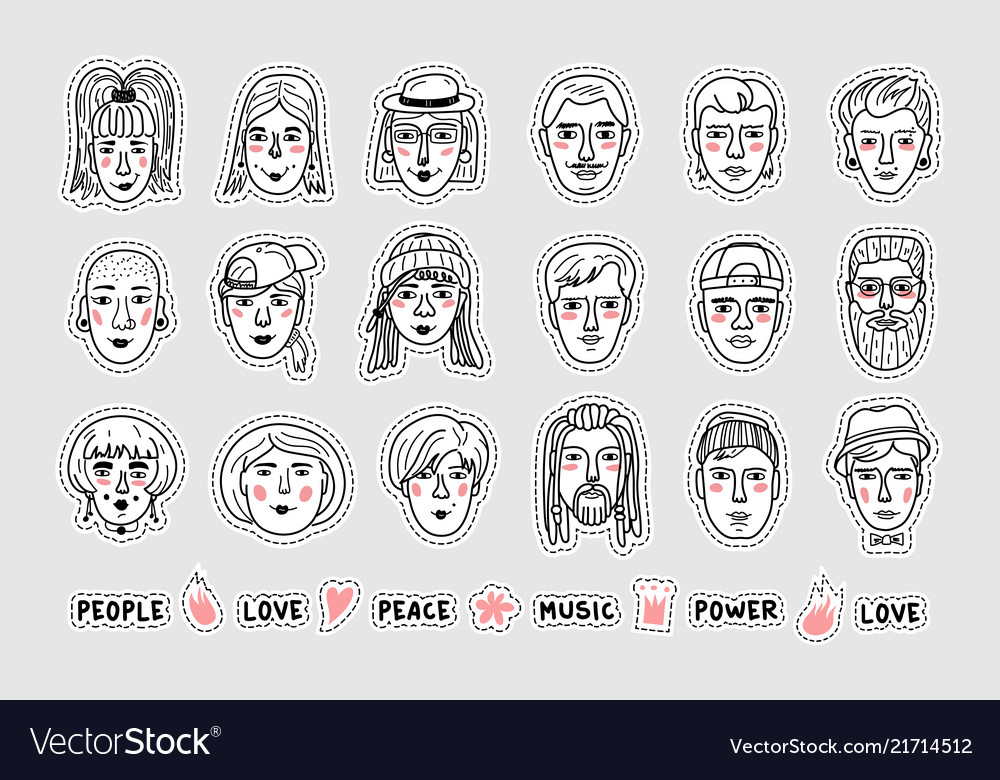 People stickers people avatars patches