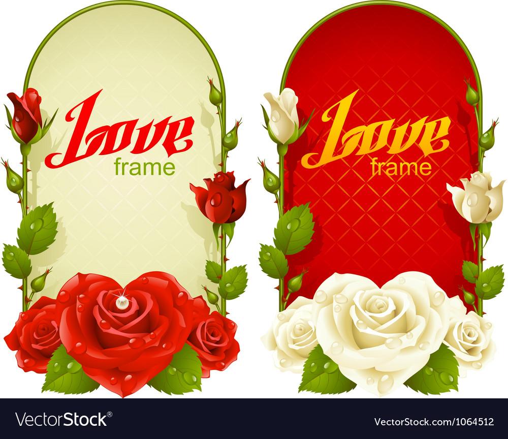 Rose frames vector image