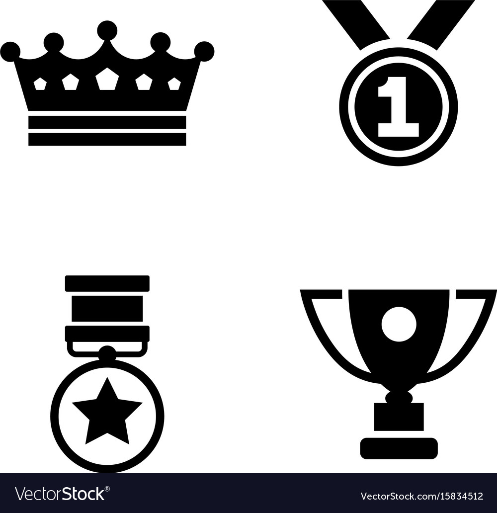Winning simple related icons vector image