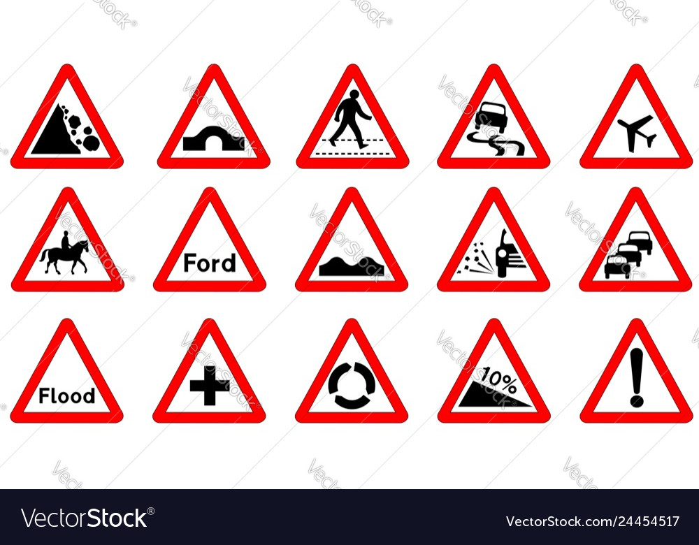 Triangle Road Signs >> 15 Triangle Traffic Signs