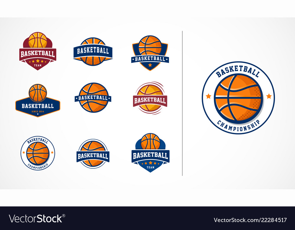 Basketball logo emblem icons collections