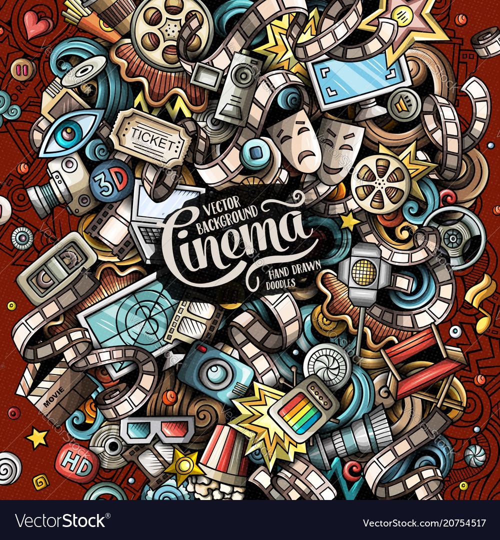 Cartoon doodles cinema