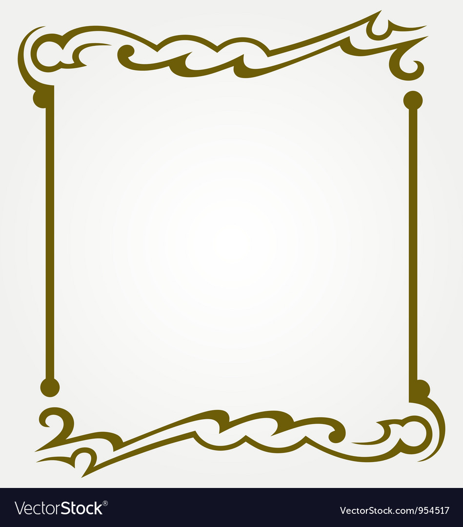 Decorative frames Royalty Free Vector Image - VectorStock