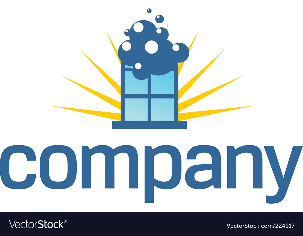 Window cleaning service logo