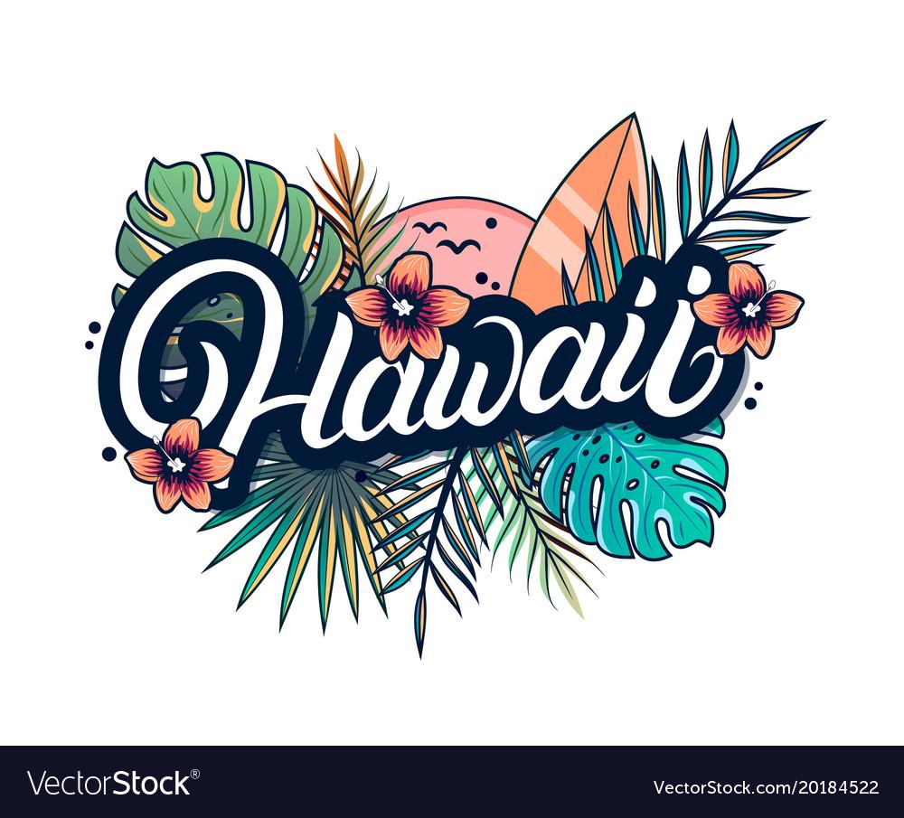 Hawaii hand written lettering