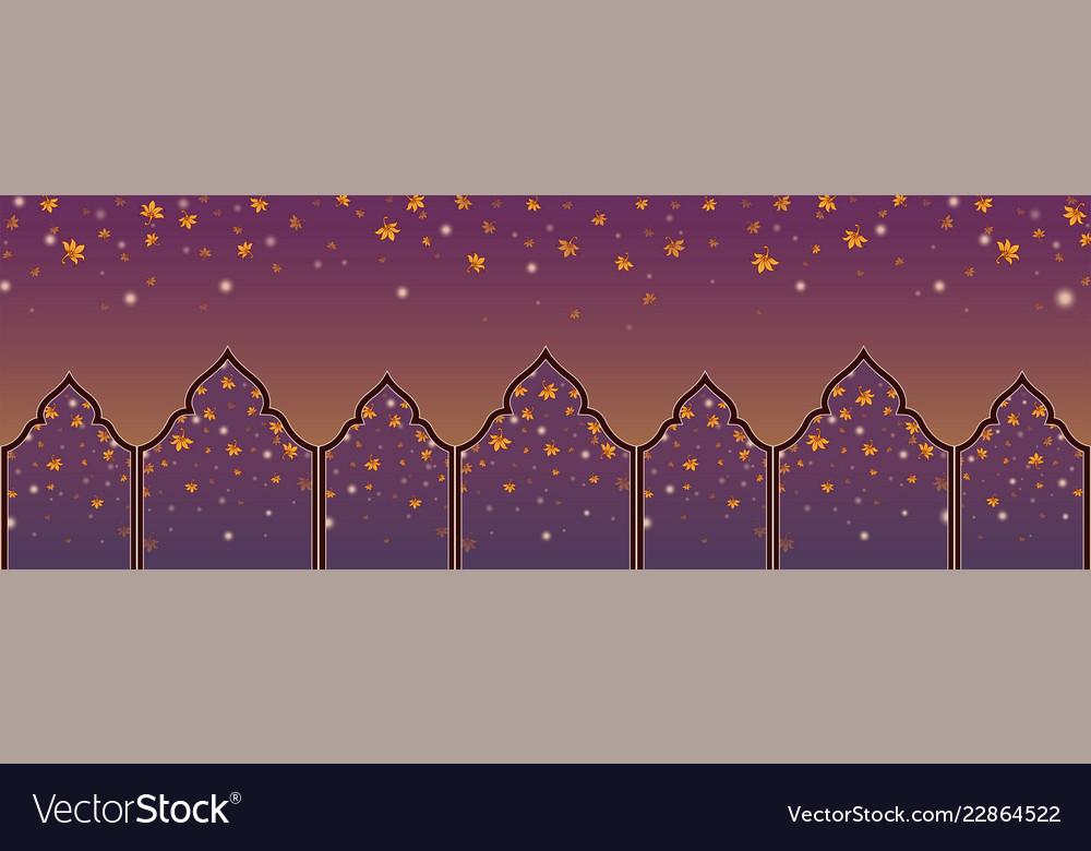 Panorama backdroppattern thai style