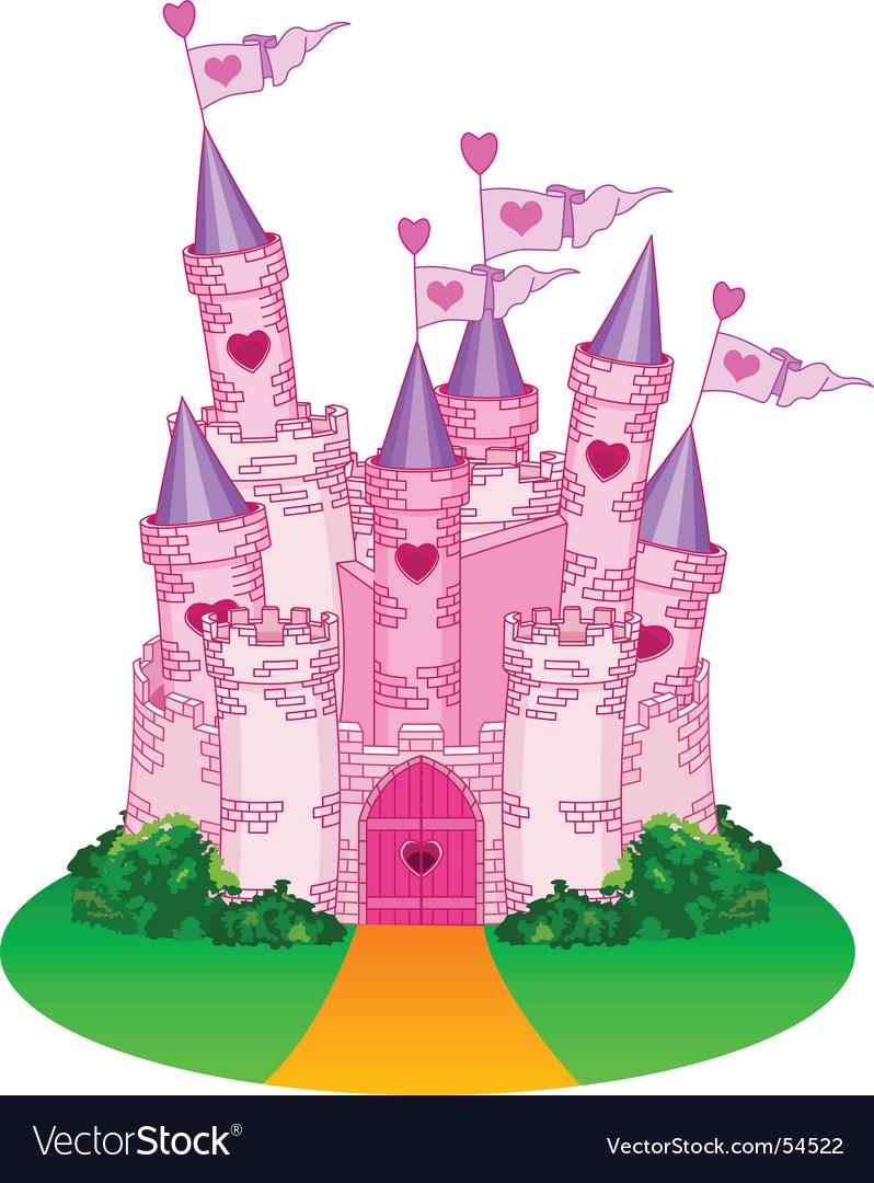 Princess castle vector image