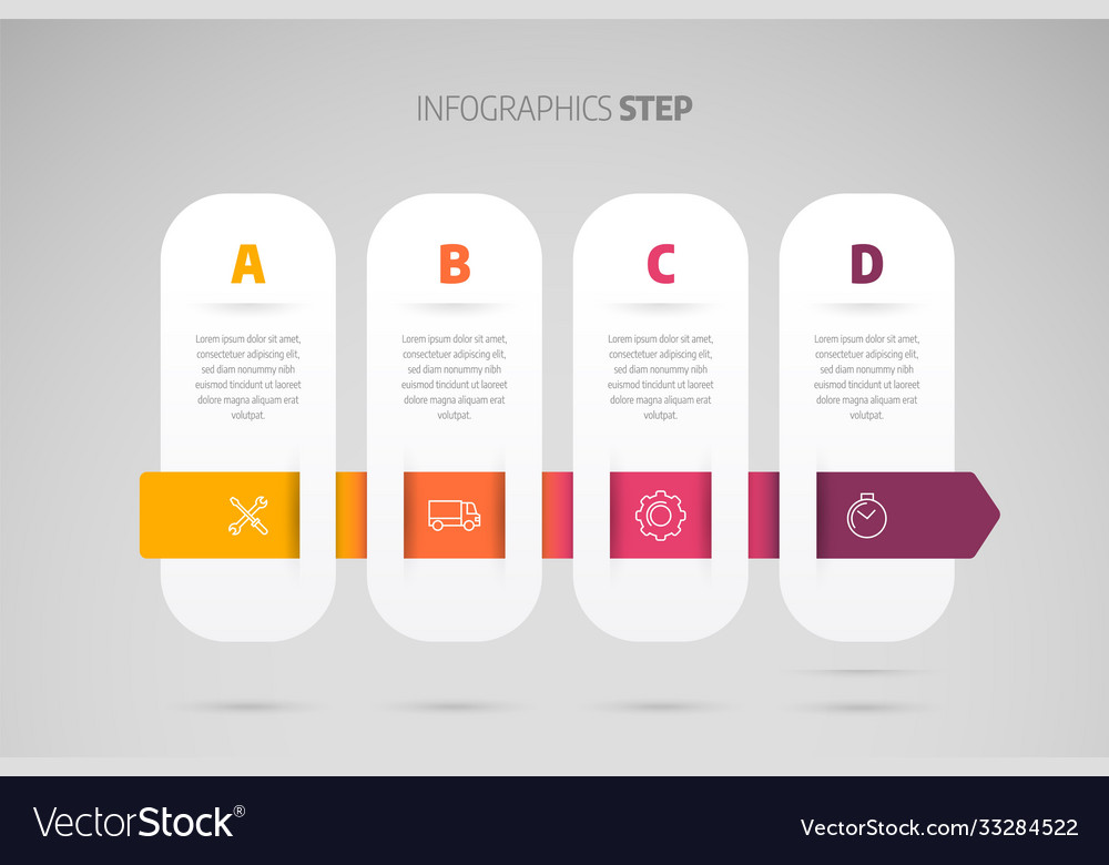 Timeline infographic design or process chart