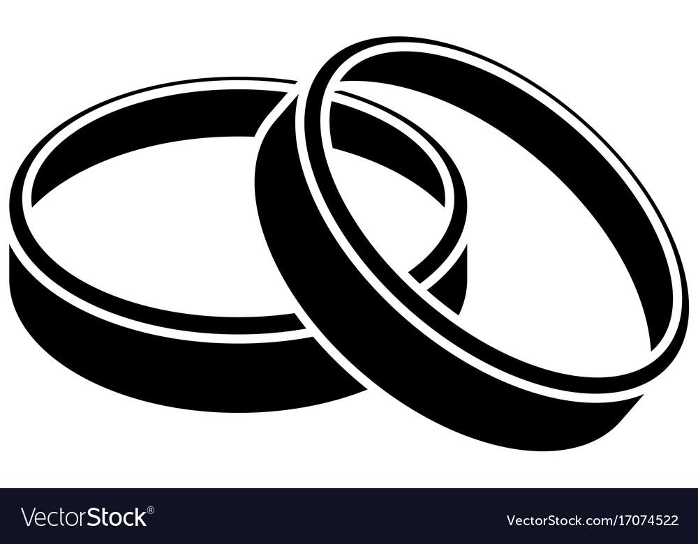 Wedding Rings Icon Royalty Free Vector Image Vectorstock