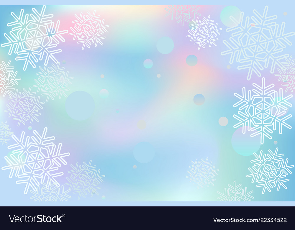 Winter snowflakes background blue