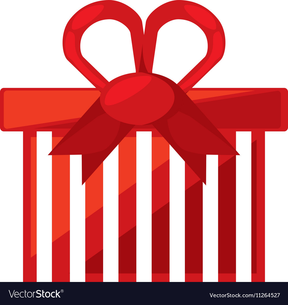 Christmas gift isolated icon