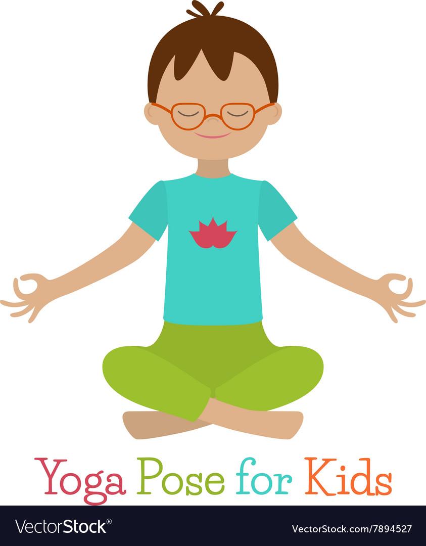 Kid Yoga Pose Royalty Free Vector Image Vectorstock