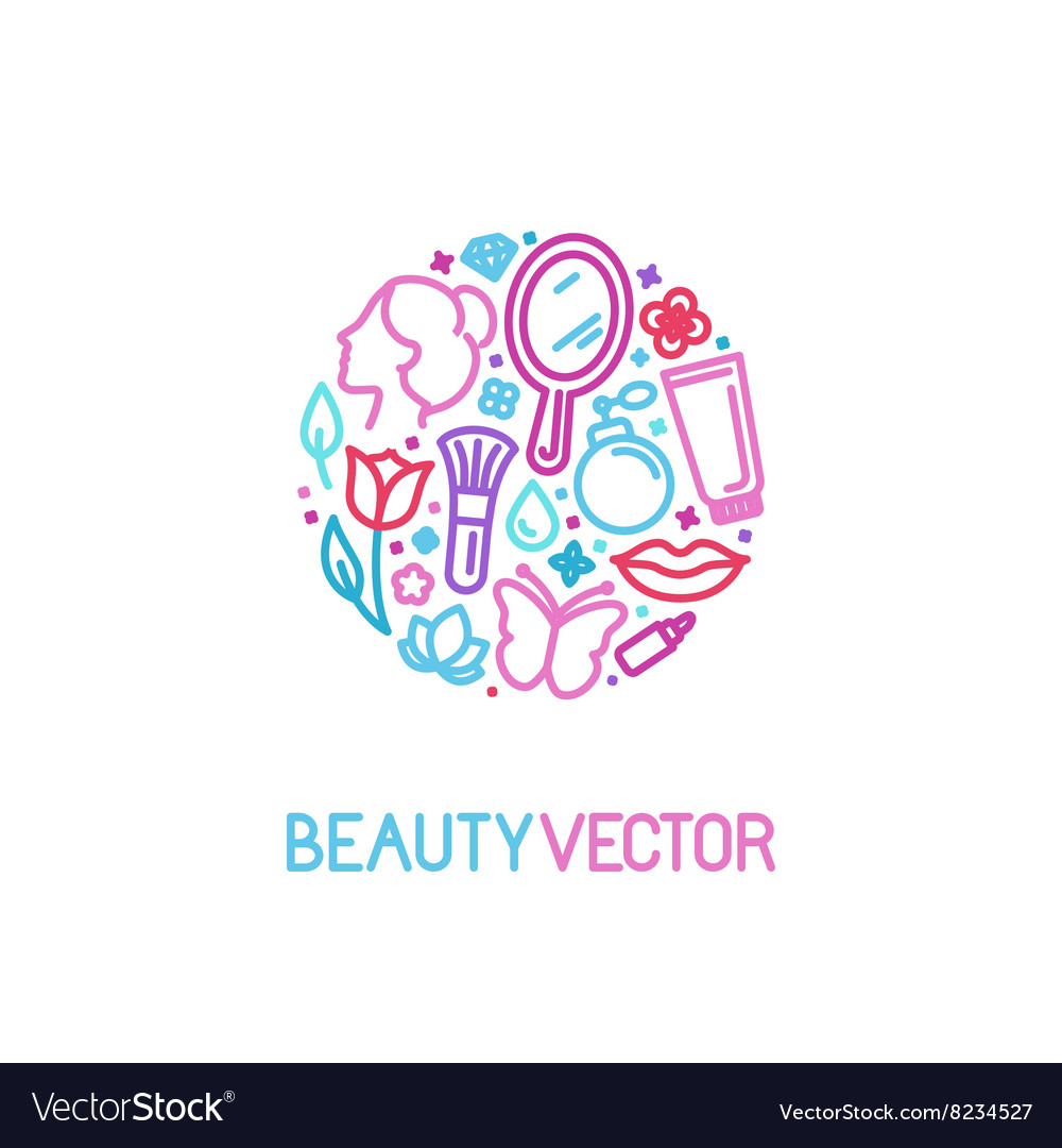 Logo design template made with icons in trendy vector image